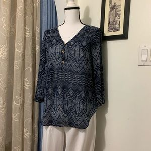DNA Couture Blue and White Blouse